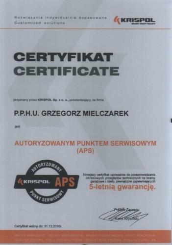 certyfikaty okna mielczarek