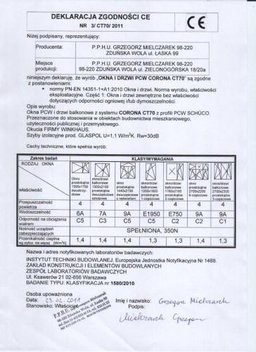 certyfikaty okna grzegorz mielczarek