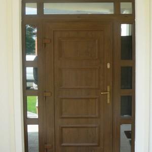 drewniane drzwi schuco